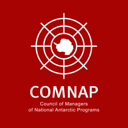 COMNAP logo white on red square small