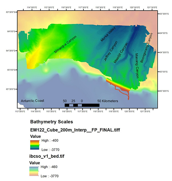 Canyon names bathymetry