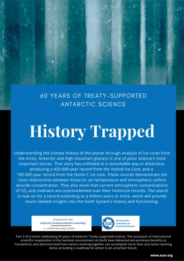 60 Years of Treaty-Supported Antarctic Science - History Trapped