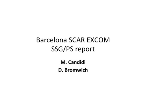 EXCOM 2013 SSG PS ppt