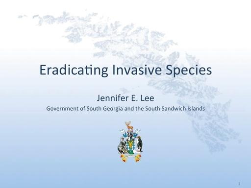 Eradicating Invasive Species - Jennifer Lee