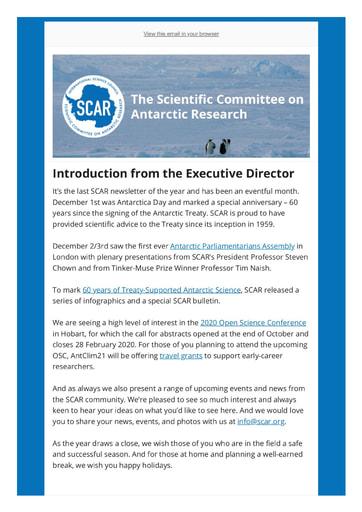 SCAR Newsletter December 2019