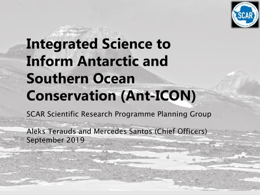 Overview of proposed Ant-ICON Scientific Research Programme