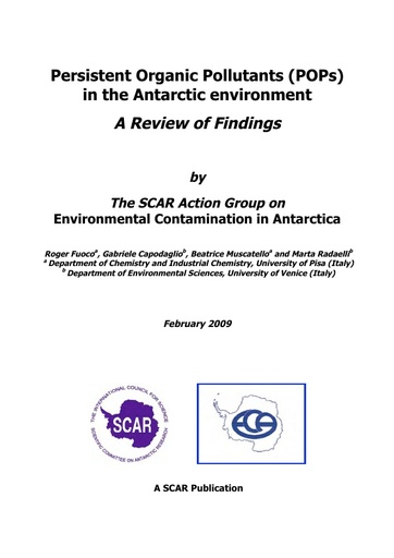 Persistent Organic Pollutants (POPs) in the Antarctic Environment: A Review of Findings