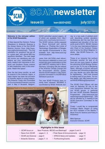 SCAR Newsletter 33 - July 2013