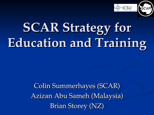 SCAR CBET Strategy Powerpoint Presentation 2006