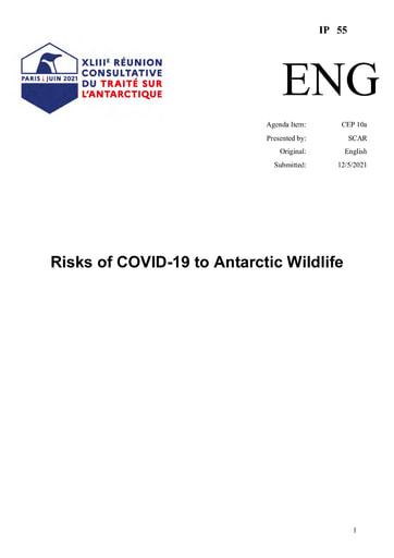 IP055: Risks of COVID-19 to Antarctic Wildlife