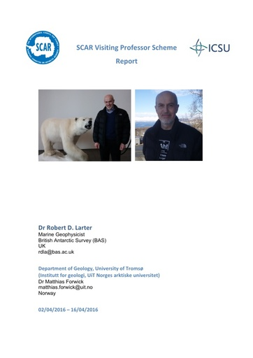 Rob Larter - 2015 Visiting Professor Report
