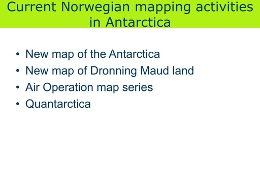 National Report to SCAGI from Norway, August 2014