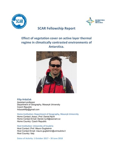 Filip Hrbáček 2017 Fellowship Report