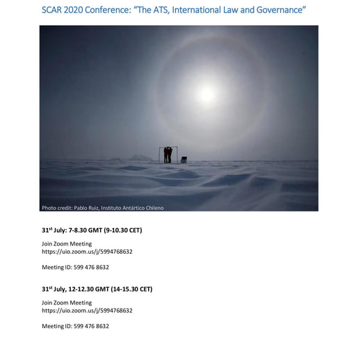 "SCAR 2020 Conference Panel on ""The ATS, International Law and Governance"""