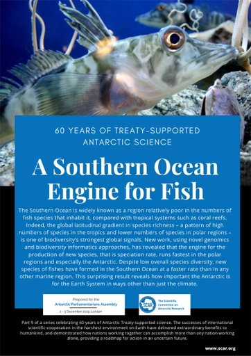 60 Years of Treaty-Supported Antarctic Science - A Southern Ocean Engine for Fish