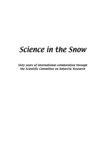 Introductory pages of Science in the Snow (2nd edition)