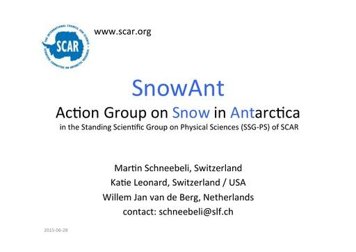 Presentation on SnowAnt Group, June 2015