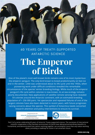 60 Years of Treaty-Supported Antarctic Science - The Emperor of Birds