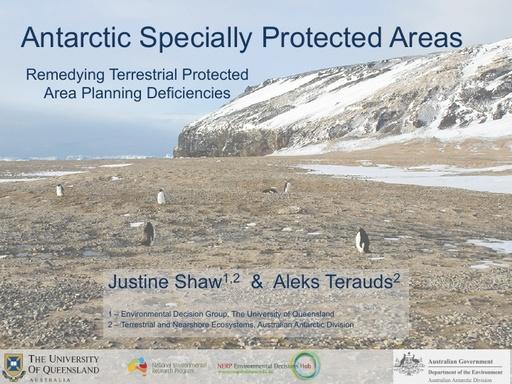 Terrestrial Protected Area Deficiencies - Justine Shaw and Aleks Terauds