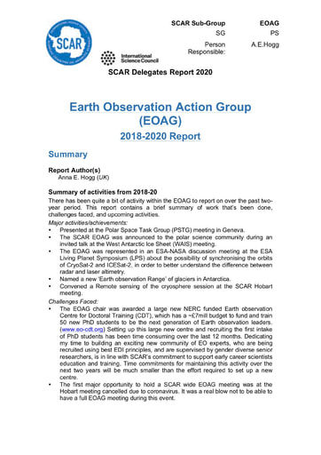 EOAG Action Group Report 2020