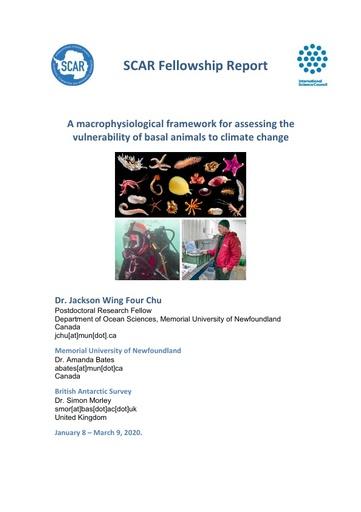 Jackson Chu 2019 Fellowship Report