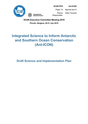 SCAR EXCOM 2019 Paper 10: Report from Ant-ICON PPG