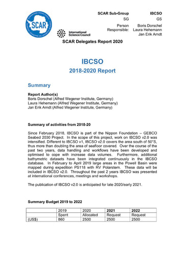 IBCSO Report 2020