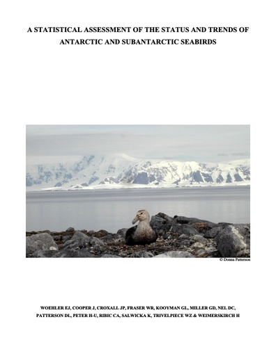 A Statistical Assessment of the Status and Trends of Antarctic and Sub-Antarctic Seabirds