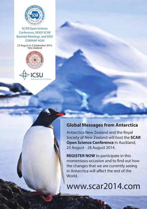 SCAR Open Science Conference 2014 - Poster
