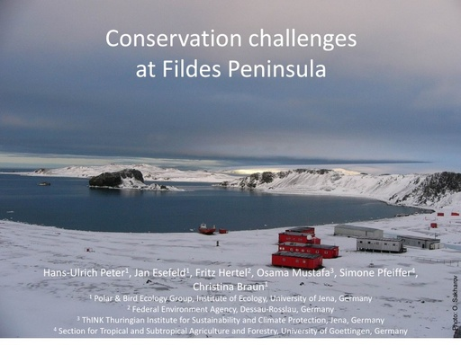Local Impacts at the Fildes Peninsula - Hans-Ulrich Peter
