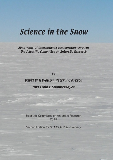 Front and back covers of Science in the Snow (2nd edition)
