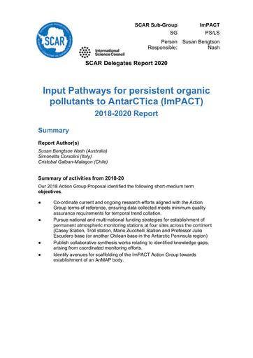 ImPACT Action Group Report 2020