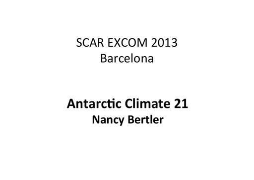 EXCOM 2013 AntClim21 ppt