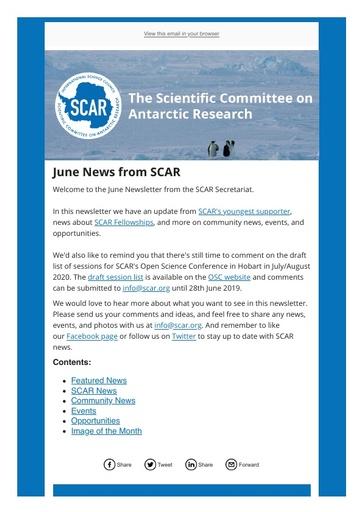 SCAR Newsletter June 2019