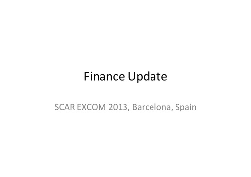 EXCOM 2013 Finance ppt