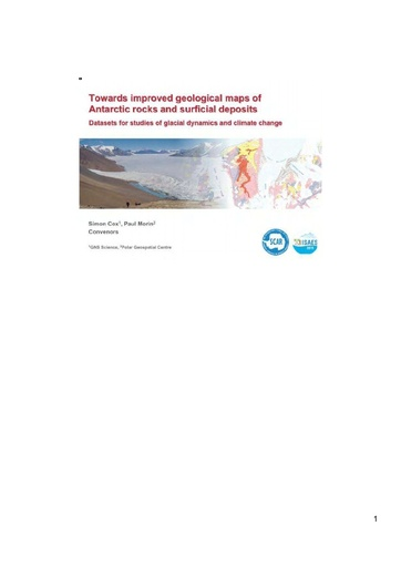 GeoMap Workshop 2015: Towards Improved Geological Maps of Antarctic Rocks and Surficial Deposits (Slides and Notes)