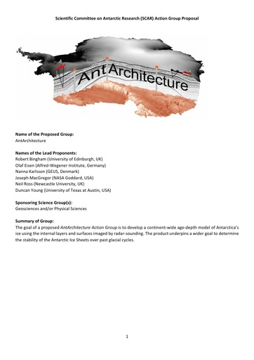 AntArchitecture Action Group Proposal, 2018