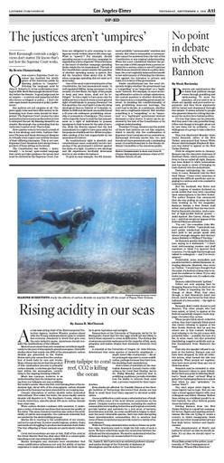 McClintock, James  Los Angeles Times Op Ed   Ocean Acidification