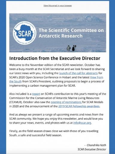 SCAR Newsletter November 2019