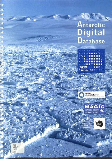Antarctic Digital Database Manual, version 3.0