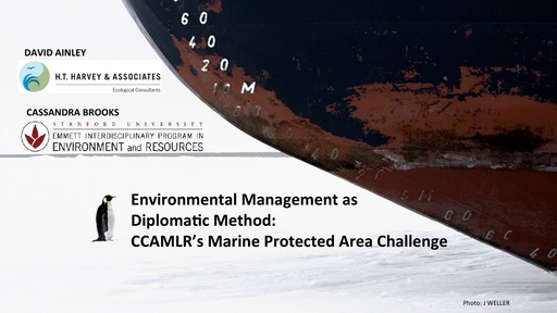 Marine Protected Area Challenges - David Ainley and Cassandra Brooks