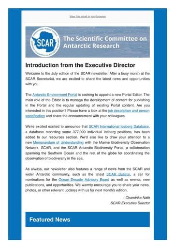 SCAR Newsletter July 2021