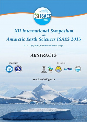 XII International Symposium on Antarctic Earth Sciences 2015 - Abstract Volume
