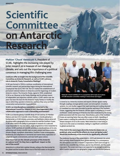 Analysis: Scientific Committee on Antarctic Research