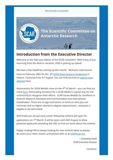 SCAR Newsletter February 2020