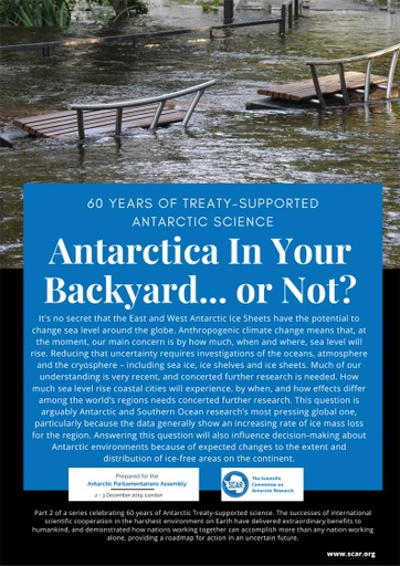 60 Years of Treaty-Supported Antarctic Science - Antarctica In Your Backyard ... or Not?