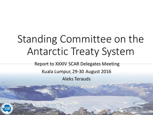 Agenda Item 7.2: Report of the Standing Committee on the ATS (SCATS), including Interactions with the Treaty, CCAMLR, and other Treaty Parties