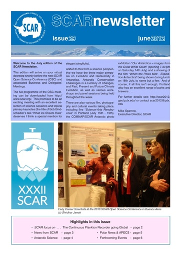 SCAR Newsletter 29 - July 2012
