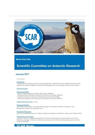 SCAR Newsletter January 2017