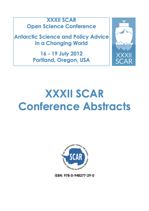SCAR Open Science Conference 2012 - Abstracts